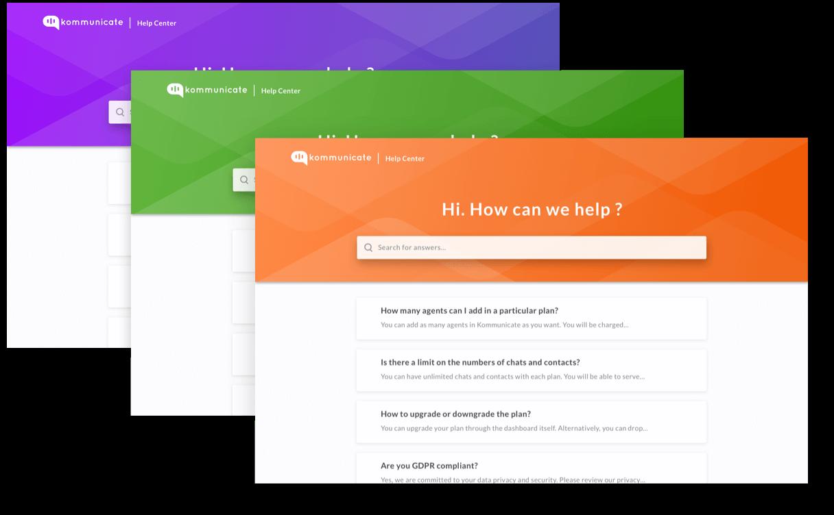 helpcenter-feature customizable interface